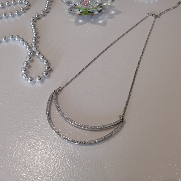 Silver Sparkly Statement Necklace